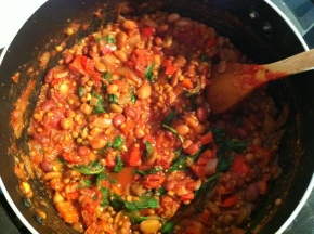 Fresh Bread cooks Vego chilli beans: the current housemate obsession