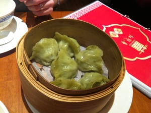 Vegetarian dumplings at China Red