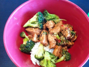 Pork with lemongrass and chilli (and broccoli)